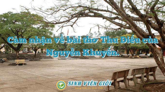 Cảm nhận về bài thơ Thu Điếu của Nguyễn Khuyến.