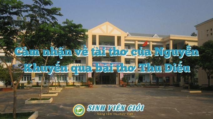 Cảm nhận về tài thơ của Nguyễn Khuyến qua bài thơ Thu Điếu